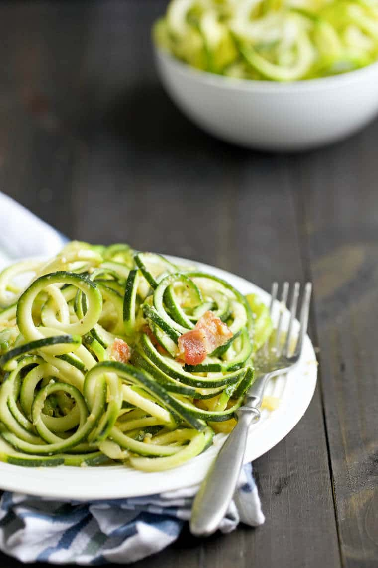 ... zucchini noodle pasta carbonara? Leave me a comment below and I'll