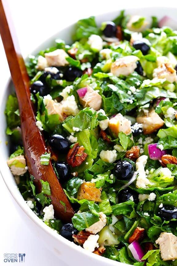Blueberry-Chicken-Chopped Salad