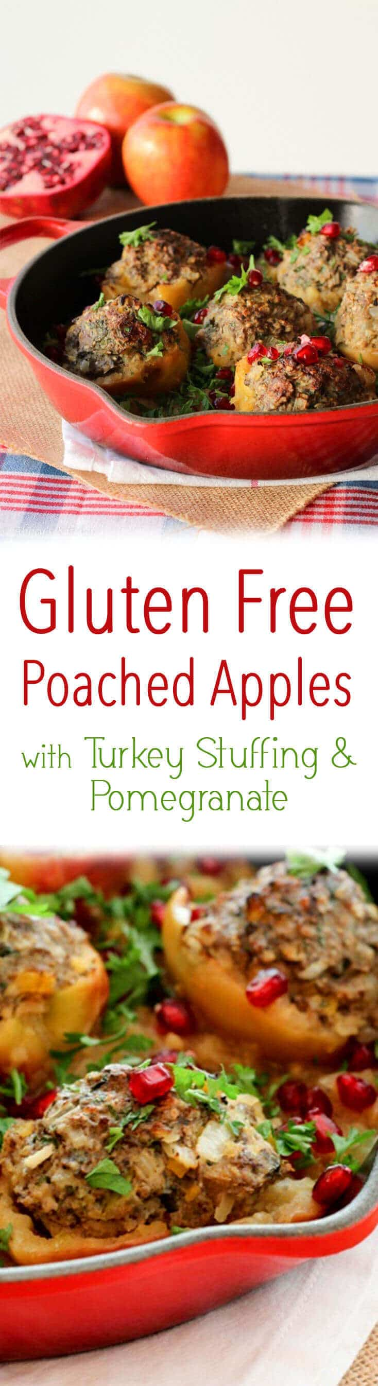 These Poached Apple with Turkey Stuffing are a great gluten free holiday recipe!