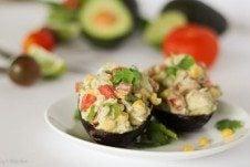 low fat avocado chicken salad