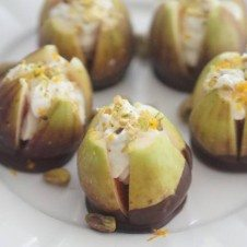 Valentine's Day Dark Chocolate Figs