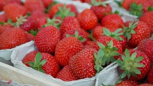Multiple strawberries.