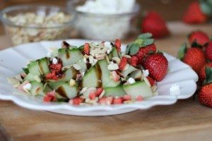 Guys Guide to a Seal the Deal Valentine's Day Meal + Sexy Strawberry Cucumber Salad
