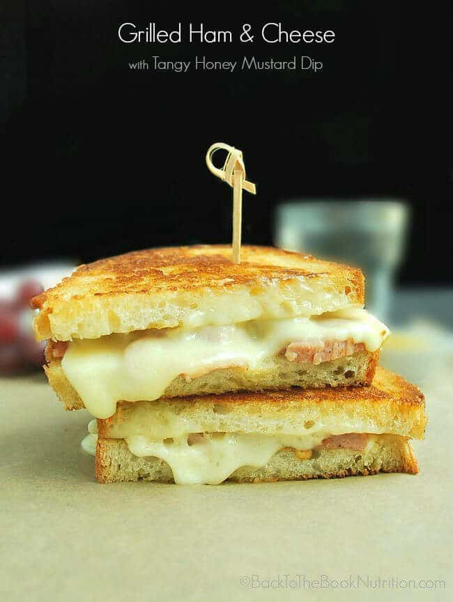 Grilled-Ham-and-and-Cheese-Sandwich-with-Tangy-Honey-Mustard-Dip