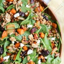 lentil salad with granola