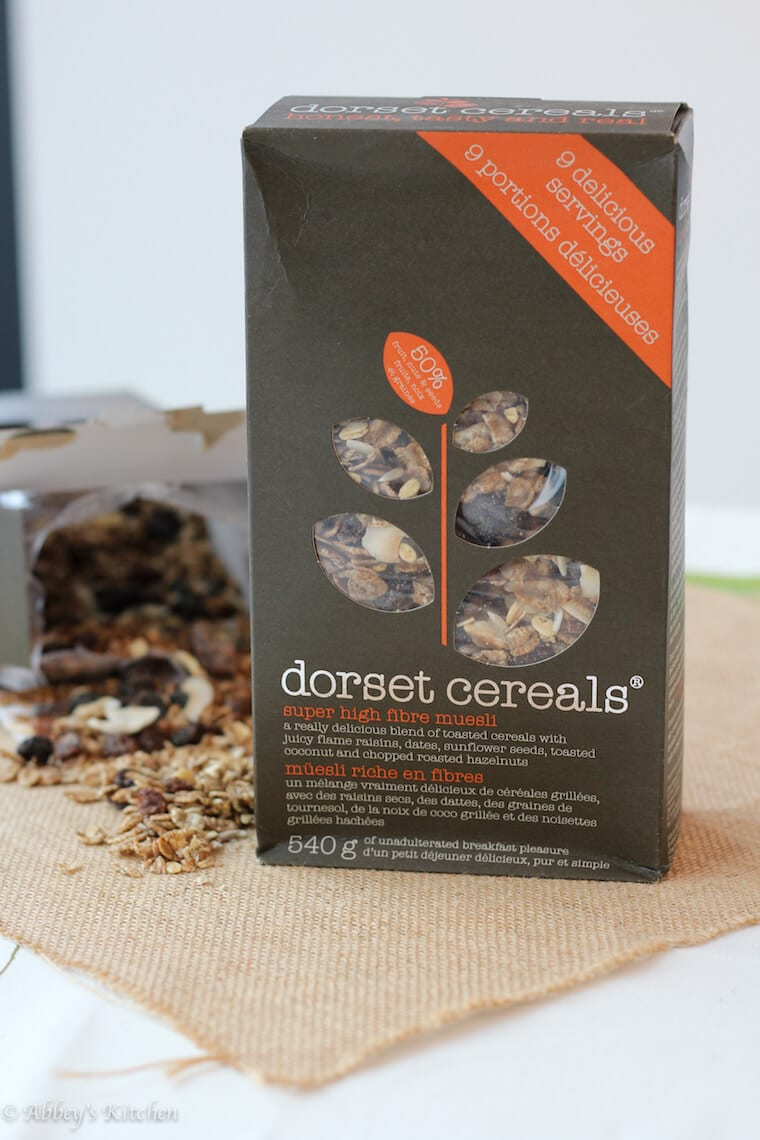 A box of dorset cereals.