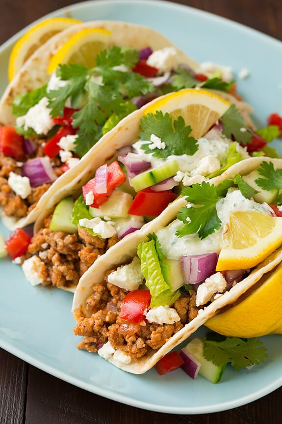 Cooking Classy - Greek Tacos