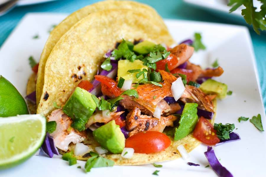 The foodie and the fix - salmon tacos
