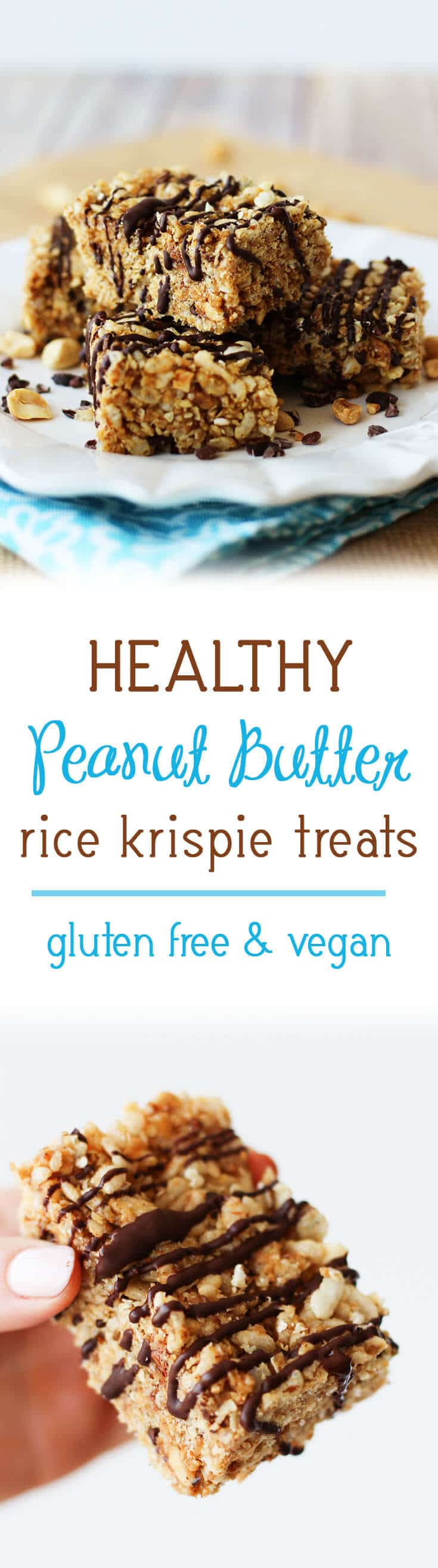 healthy peanut butter rice krispie treats