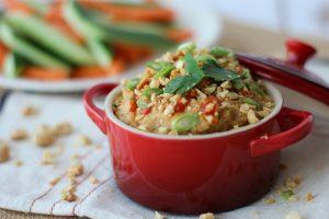 Thai Peanut Hummus Dip | Gluten Free, Vegan, Healthy