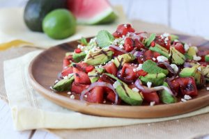 Grilled Watermelon and Avocado Salad with Lime & Feta | Gluten Free BBQ Sides