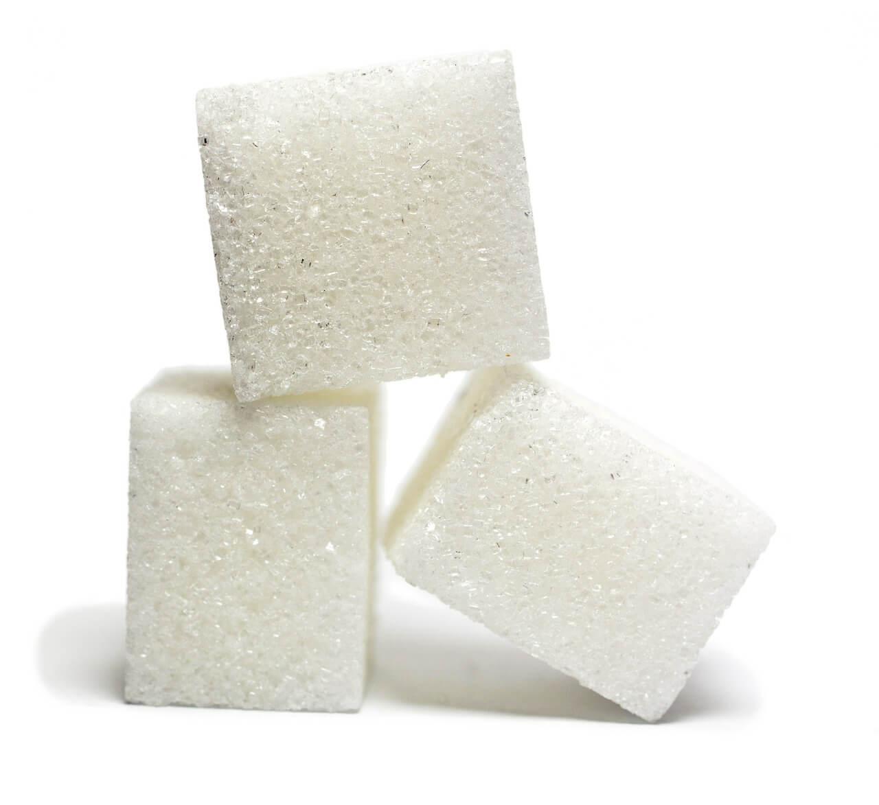 Three sugar cubes.