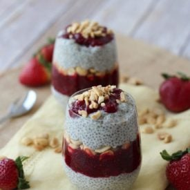 peanut butter and jam vegan chia pudding