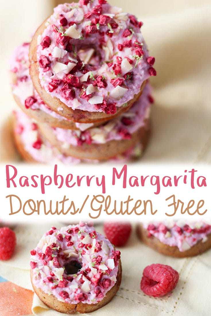 These raspberry margarita gluten free donuts are naturally dairy free, grain free and lower in carbs. Instead of fancy mixes and a ton of strange additives, they're just made with the goodness of almond flour, coconut yogurt and fresh fruit!