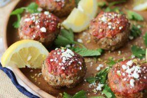 Greek Gluten Free Meatloaf Muffins   Healthy & Easy Freezer Meals