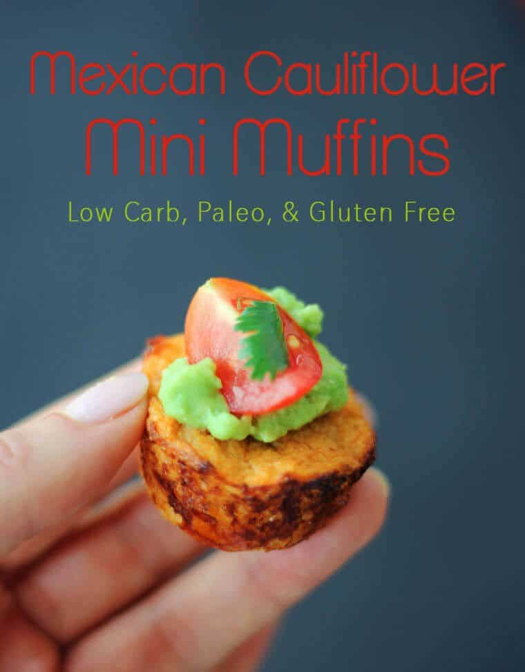 These Mexican Cauliflower Mini Muffins make tasty little brunch or breakfast bites - they're low carb, paleo and gluten free and packed with Mexican flavour!