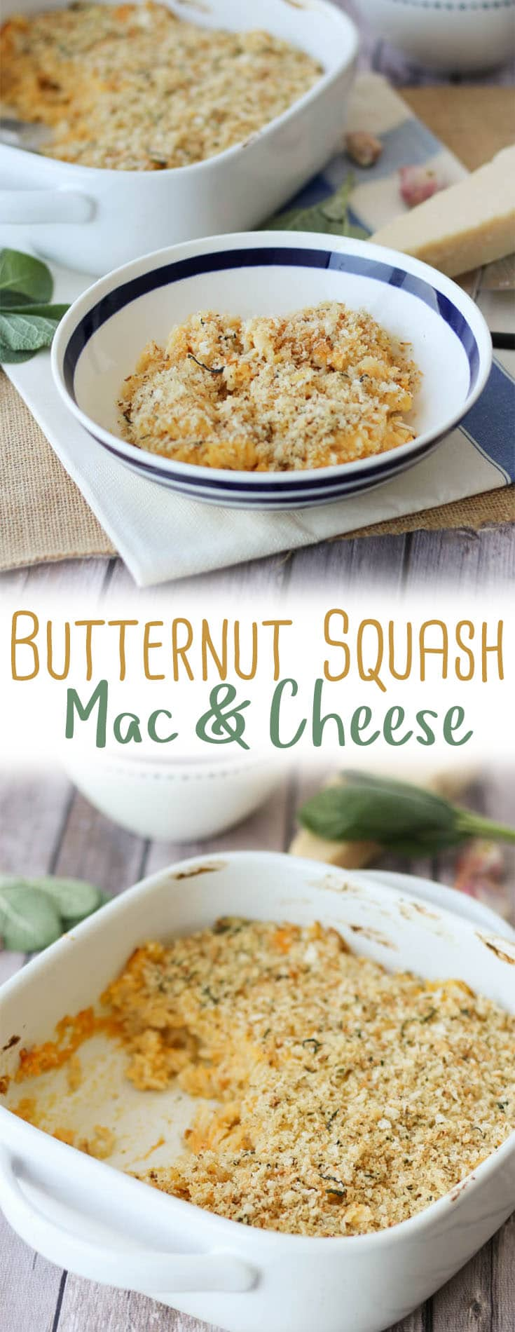 This healthy Butternut Squash Mac and Cheese features a sneaky mixture of whipped squash and low-cal cauliflower in place of the traditional butter-based roux.