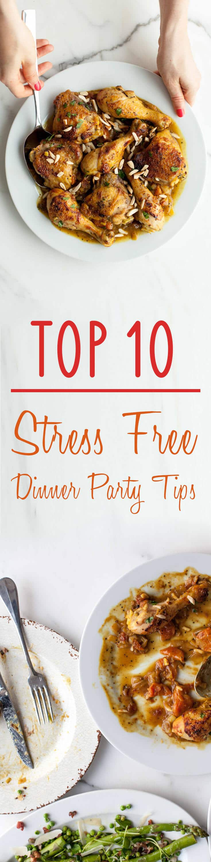 Learn my top 10 stress-free dinner party tips to throw one hell of an impressive dinner party this holiday season!