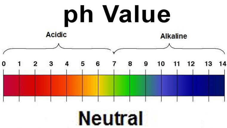 pH Value chart.