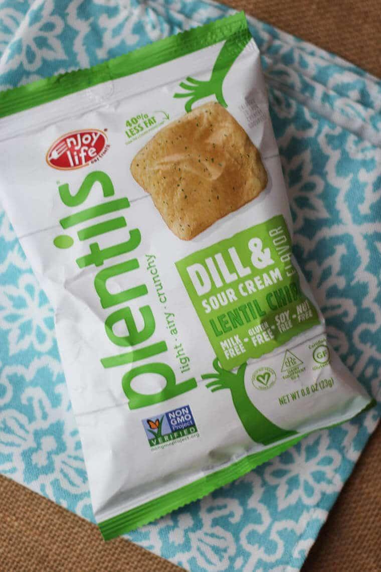 A bag of plentils chips.
