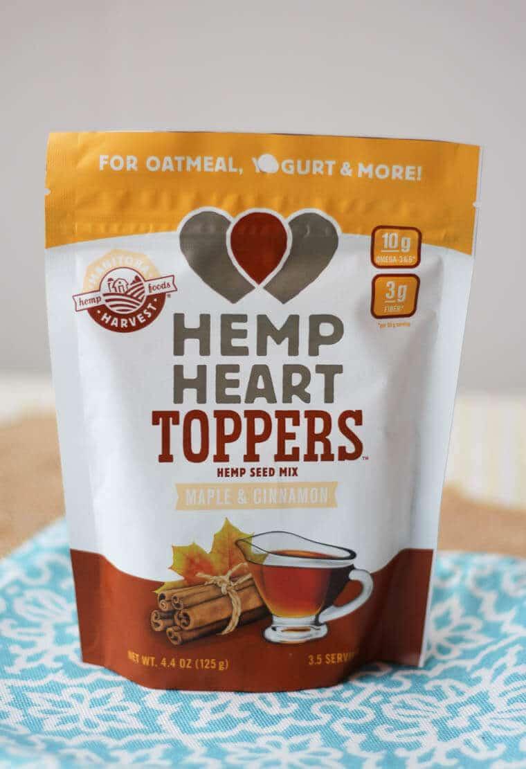 A bag of hemp heart toppers.