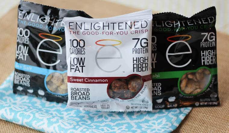 A bag of Enlightened crisps.