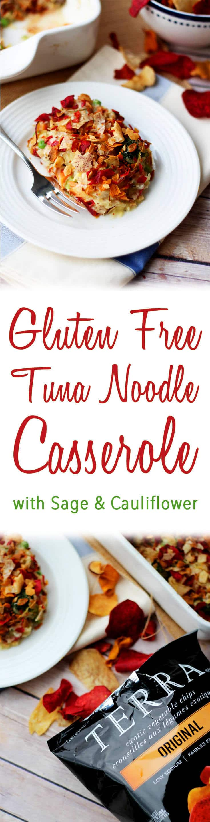 This healthy gluten free tuna noodle casserole is a lightened up, low carb version of the classic comfort food dish.