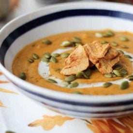 vegan curried sweet potato soup