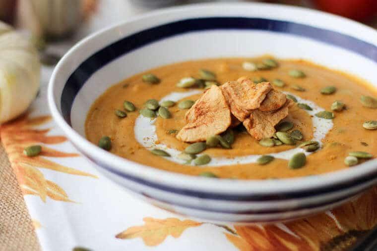 vegan curried sweet potato soup