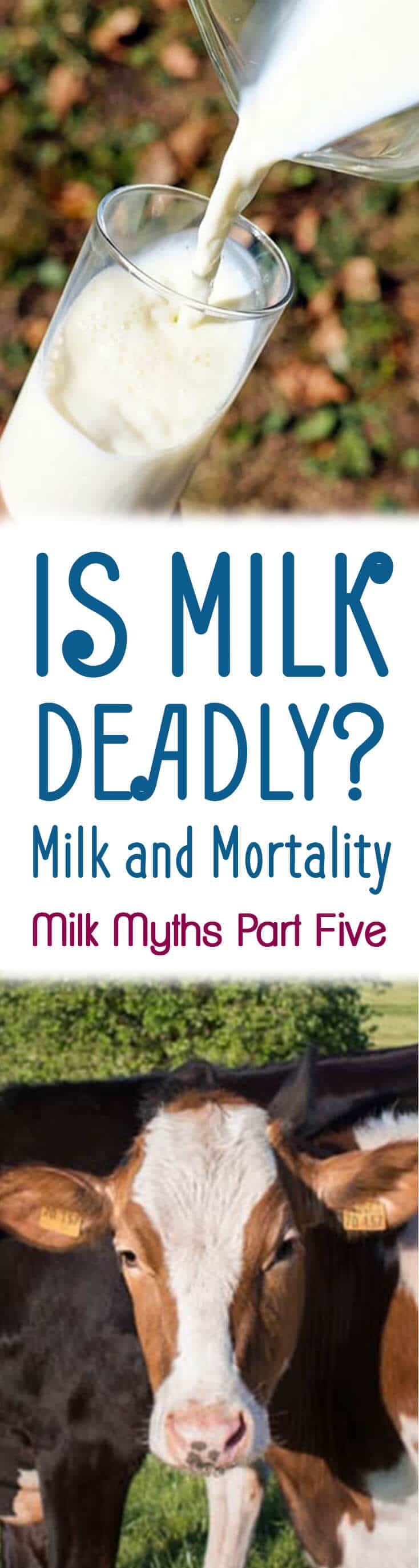 In part 5 of Dairy Myths, we answer the question is milk deadly? What does the research say about milk and mortality?