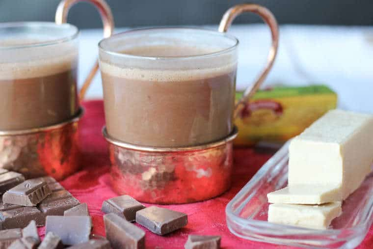 This Maple Butter Hot Chocolate is my favourite way to up the richness factor in my favourite winter drink.