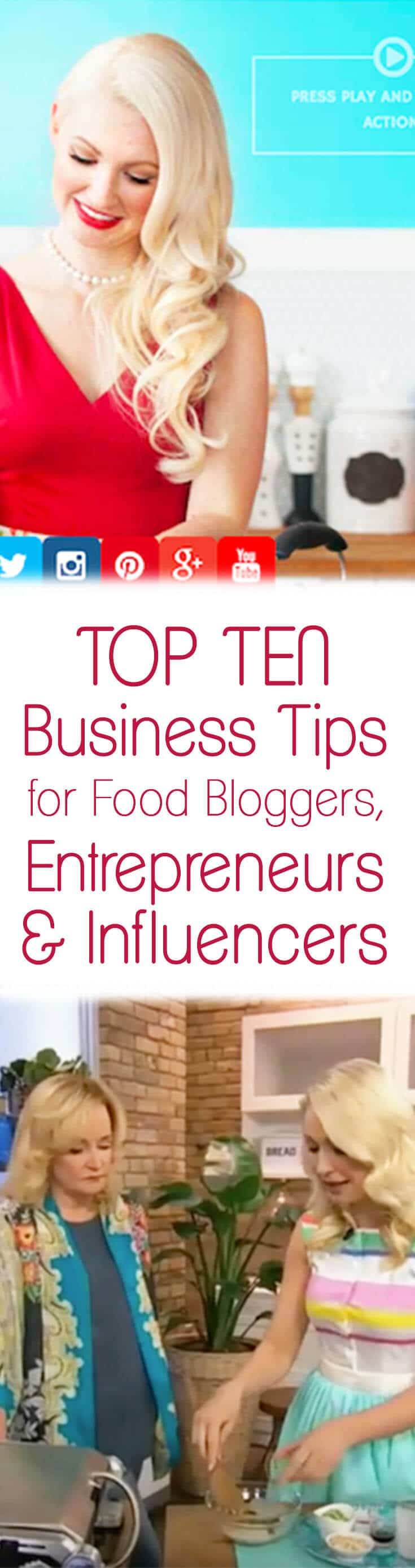 I share my top 10 business tips for food bloggers, entrepreneurs & influencers that I learned in 2016 and I share my professional goals for Abbey's Kitchen for 2017.
