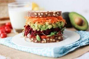 Avocado Chickpea Salad Sandwich | Vegan Chicken Salad Swap