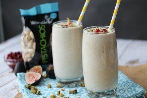 Pistachio & Tahini Protein Smoothie   Gluten Free, High Protein Breakfast Recipes!
