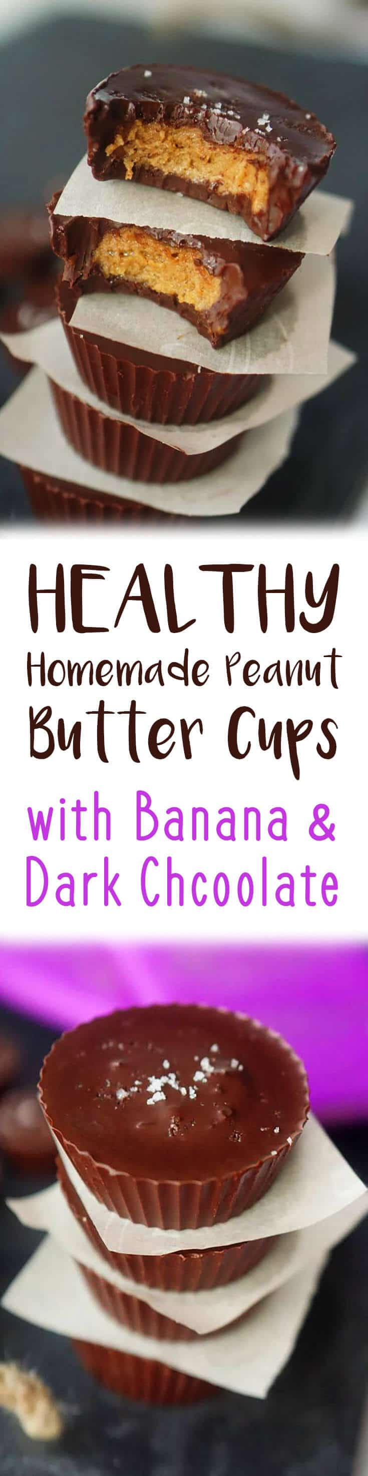 These Healthy Homemade Peanut Butter Cups are one of my favourite desserts of all time. #darkchocolate #peanutbutter #chocolatecups #healthydessert #homemade #healthyrecipe