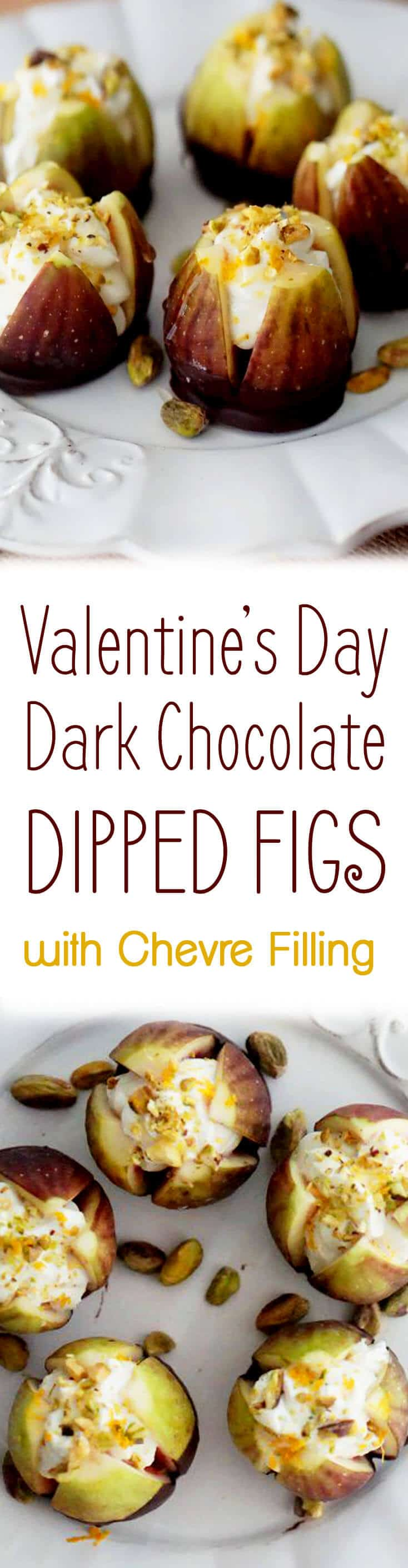 Let's be honest. Valentine's Day Dark Chocolate treats are pretty much a must at any V-day party or date-night. I need chocolate most times of the year, but especially on Valentine's Day, and these Dark Chocolate Dipped Figs satisfy that craving!