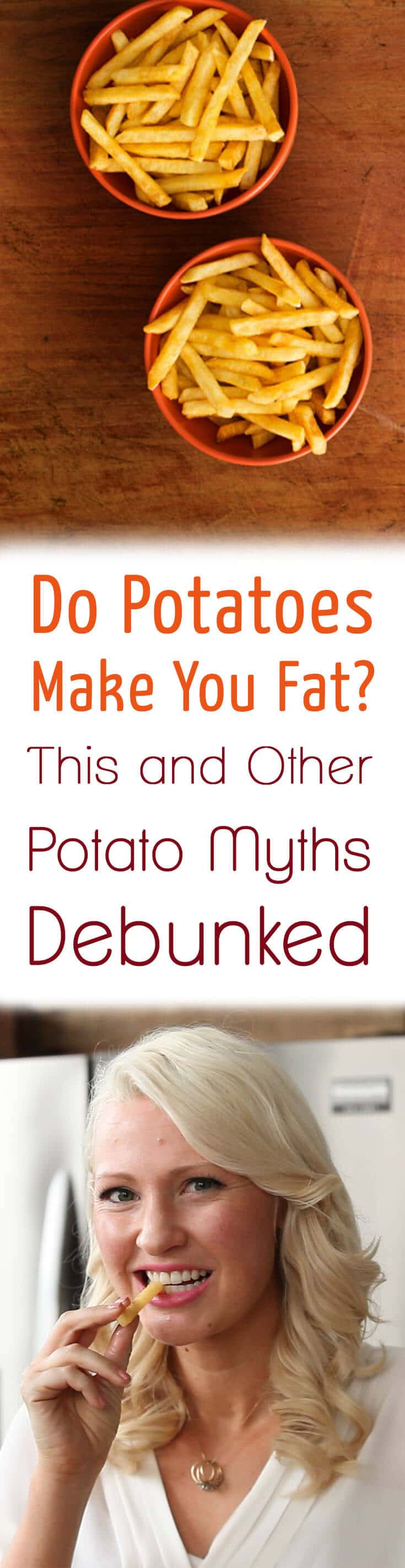 I discuss the top potato myths like do potatoes make you fat and look at the research on why potatoes can be good for your health.