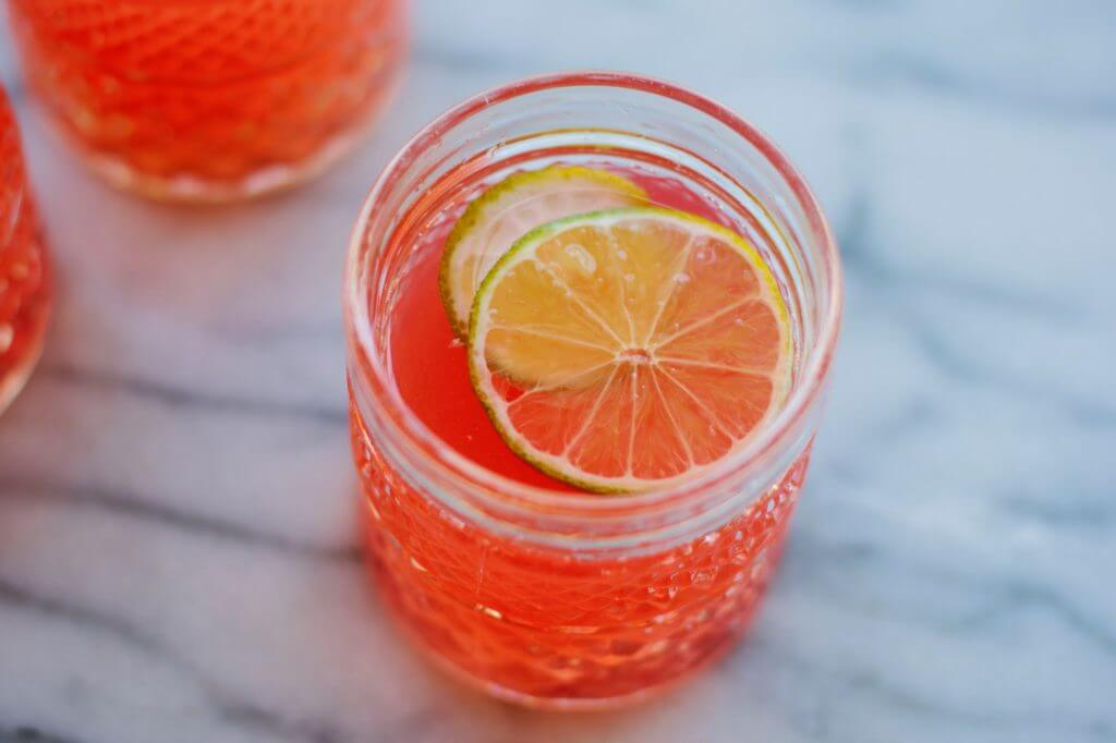 Rhubarb ginger fizz mother's day recipe
