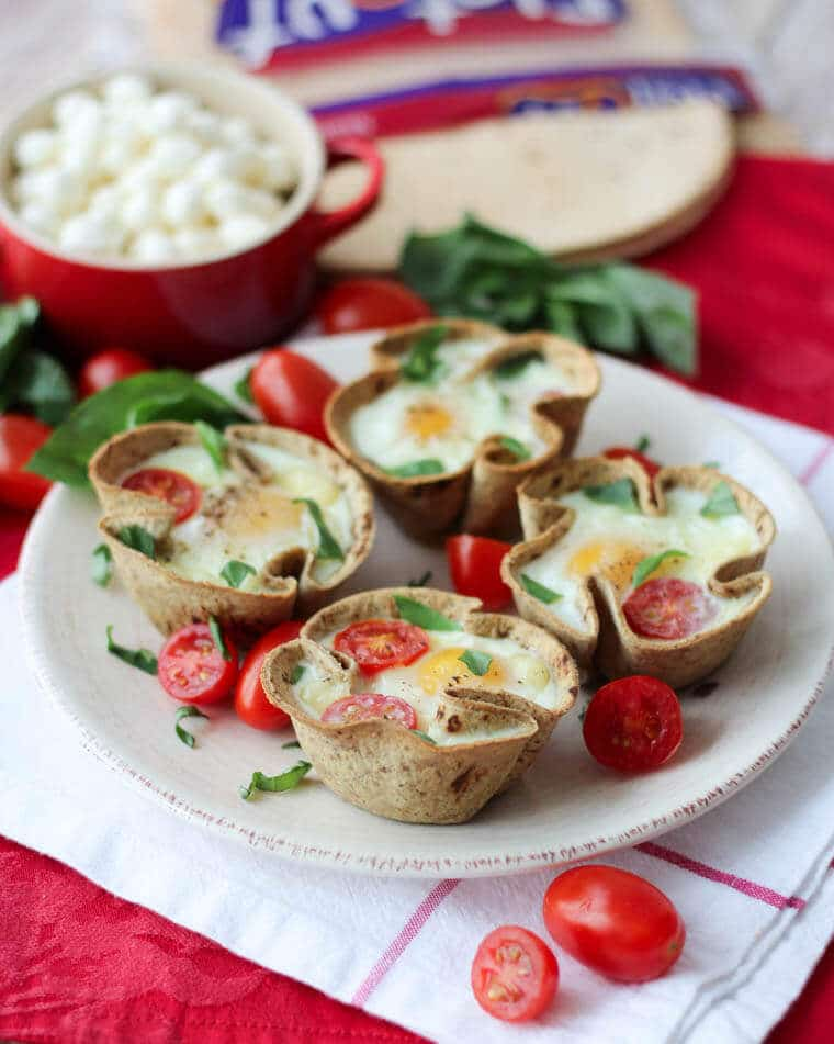 caprese egg cups for mother's day