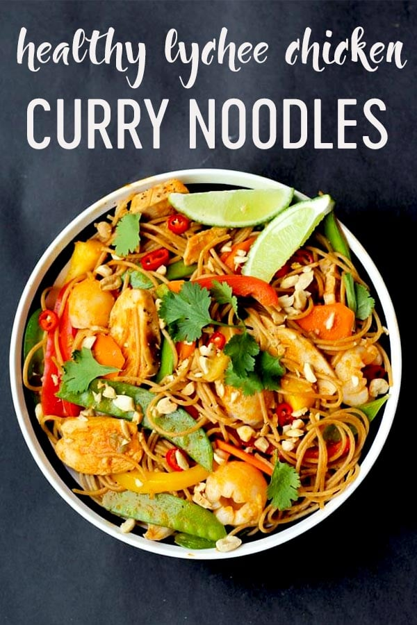 Try this Healthy Lychee Curry Noodles tonight! #curry #lychee #noodles #pasta #highfibre #highprotein #weeknightdinner #dinnerrecipe #healthyrecipe #easyrecipe #quickrecipe