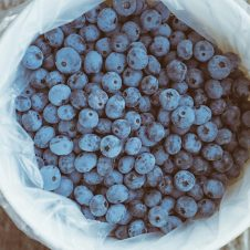 A photo of blueberries.
