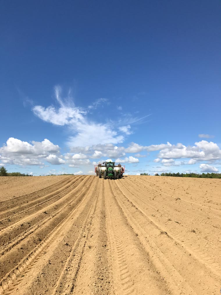 I share the truth about where your potatoes come from and some surprising facts about potato farming that I learned on a recent trip to a Canadian potato farm.