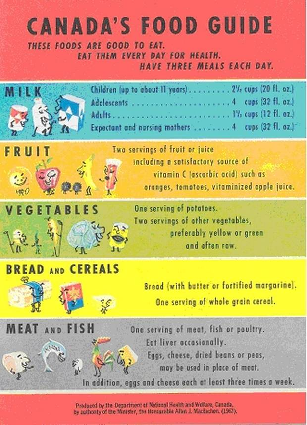 infographic from canada's new food guide