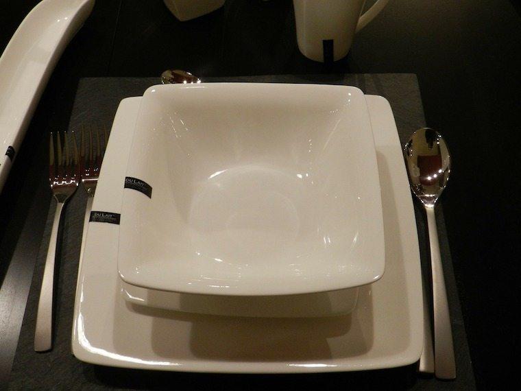 Empty plate setting.