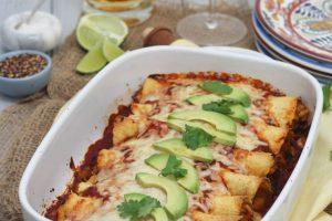 Gluten Free Chicken and Butternut Squash Enchiladas | Easy Healthy Dinner Recipe