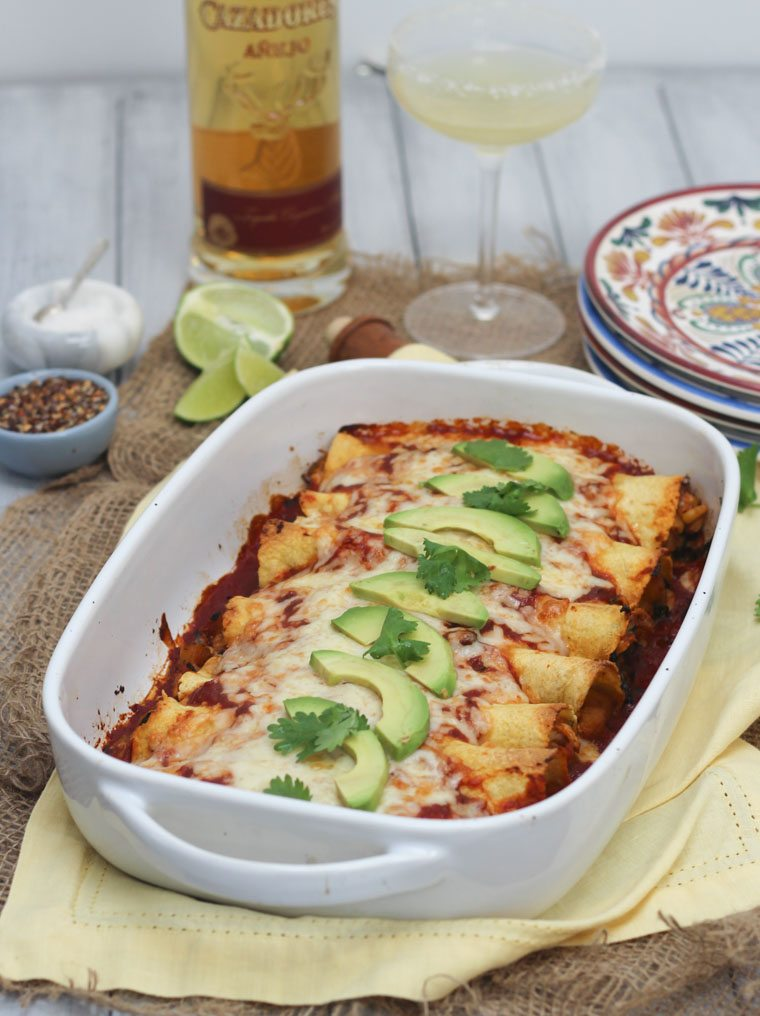 These Gluten Free Chicken And Butternut Squash Enchiladas Are An Easy Healthy Family Dinner Thats