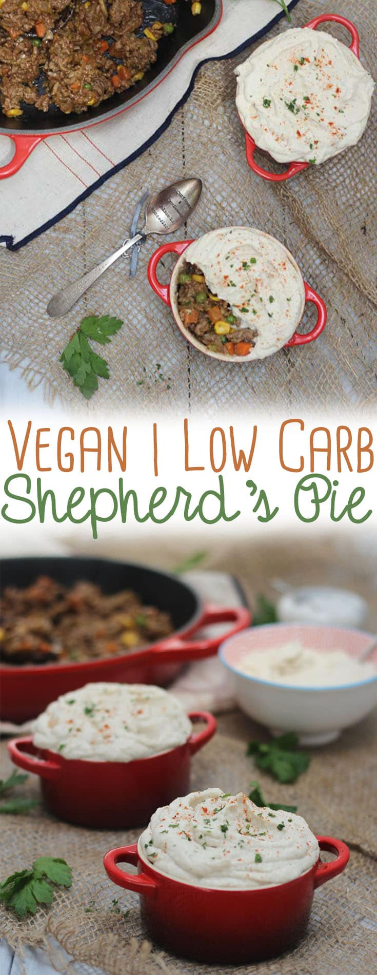 This vegan low carb Shepherd's Pie is gluten free and keto friendly and totally will bring you back to your childhood with this nostalgic meal!