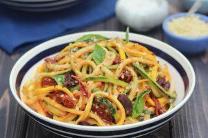 Vegan Vodka Sauce Zucchini Noodle Pasta | Gluten Free, Low Carb Zoodles Recipe