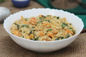 Butternut Squash Vegan Risotto with Caramelized Onions | Gluten Free Christmas and Thanksgiving Recipe