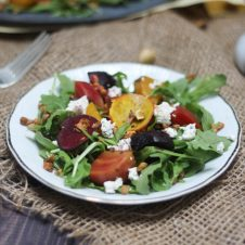 ThisVegan Lentil, Beet and Cherry Salad is a delicious Plant Based Gluten Free Salad recipe that's perfect for entertaining of a satisfying weekday lunch!